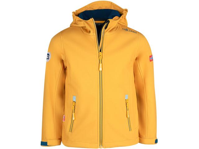 TROLLKIDS Trollfjord Giacca Bambino, golden yellow/mystic blue